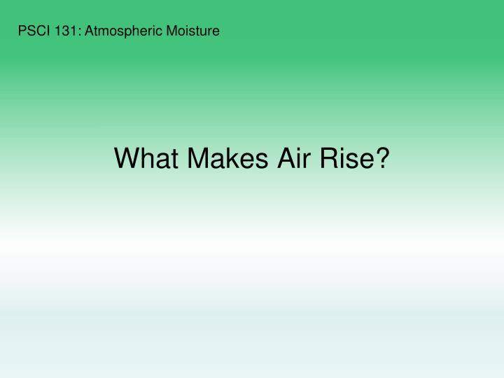 What Makes Air Rise?