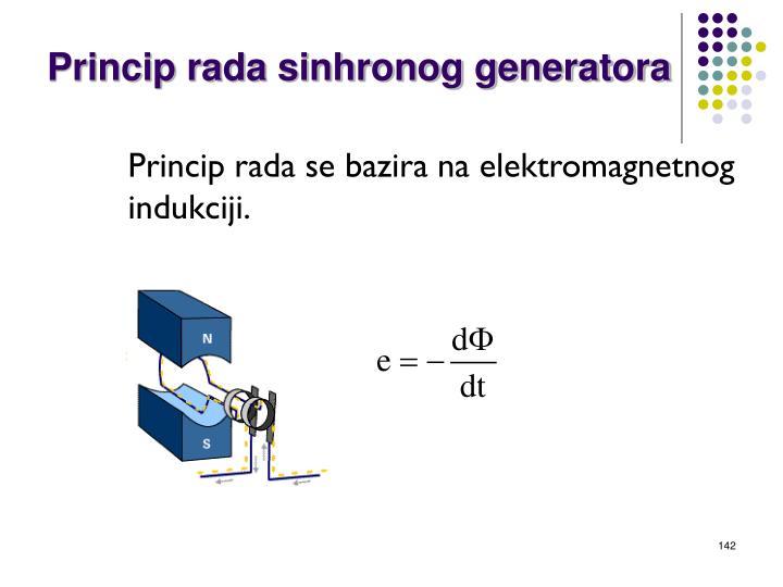 Princip rada sinhronog generatora