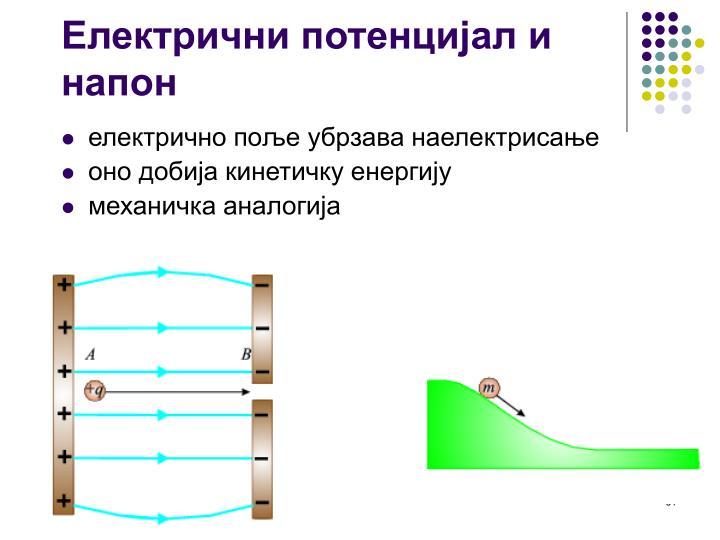 Електрични потенцијал и напон