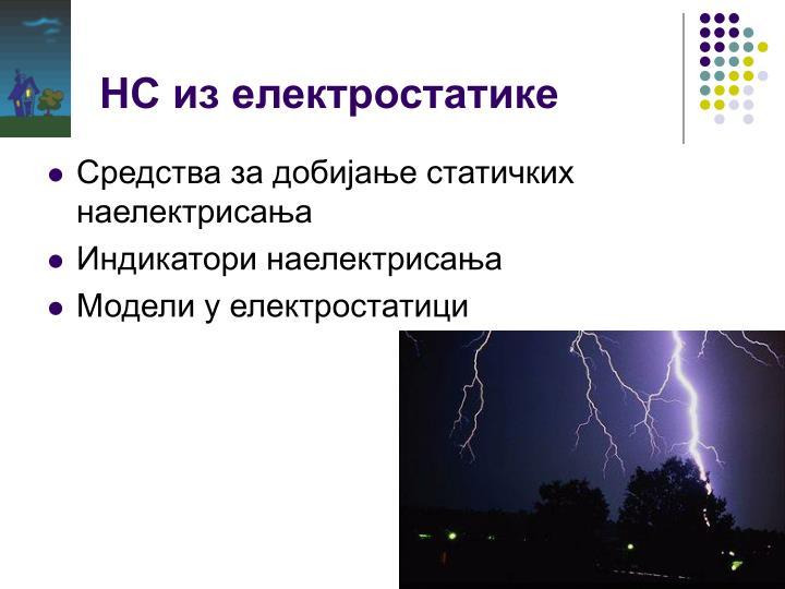 НС из електростатике