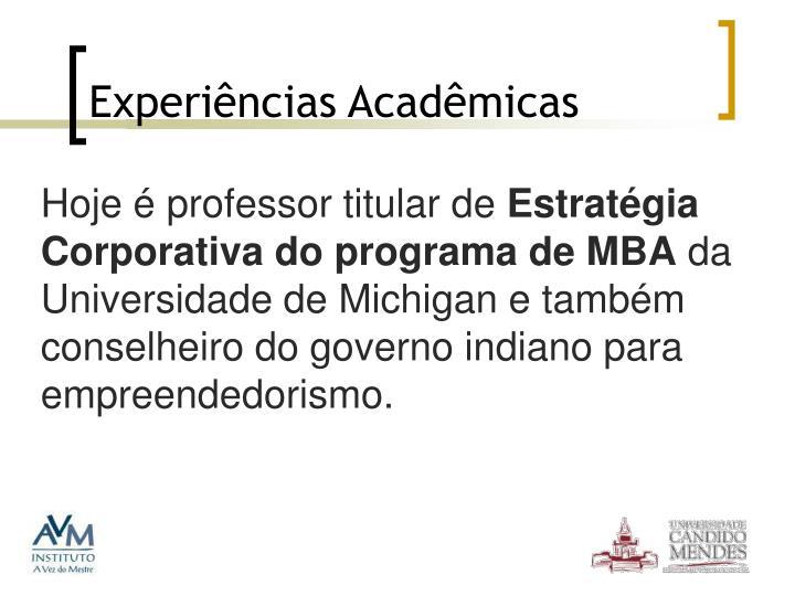 Experiências Acadêmicas