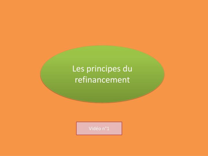 Les principes du refinancement