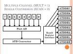 multiple channel mult 1 single conversion scan 0