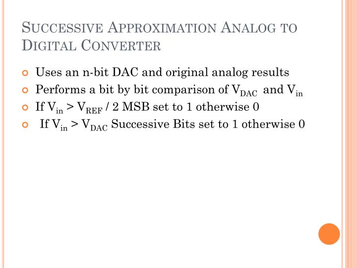 Successive Approximation Analog to Digital Converter