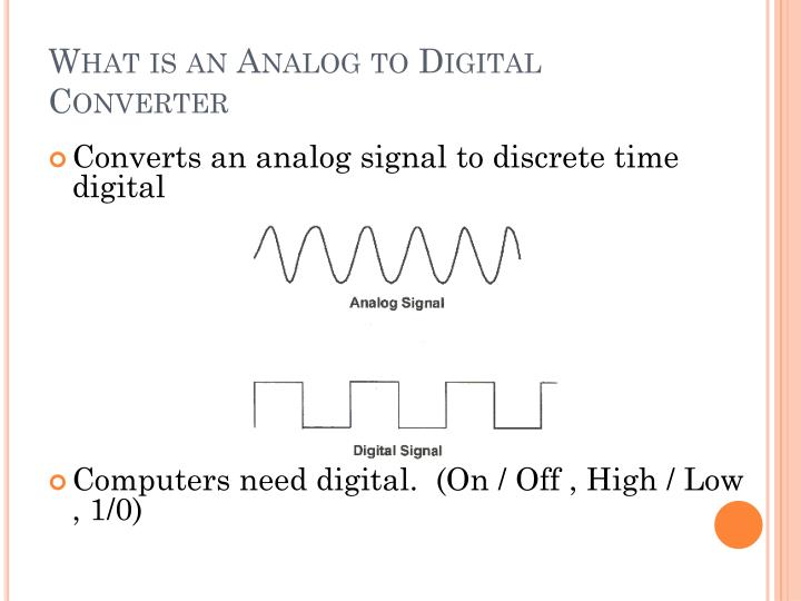 What is an analog to digital converter
