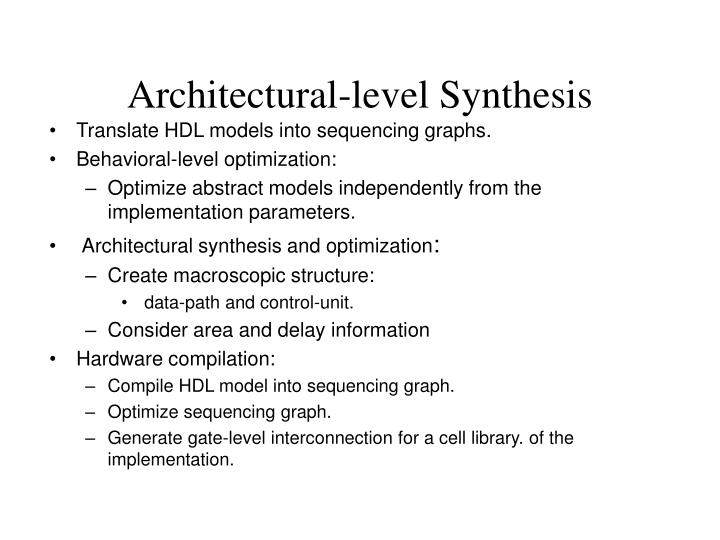 Architectural-level Synthesis