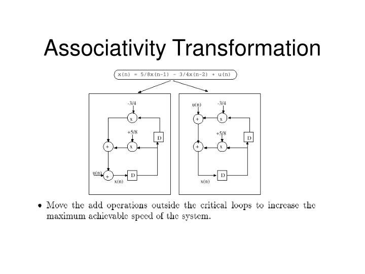 Associativity Transformation