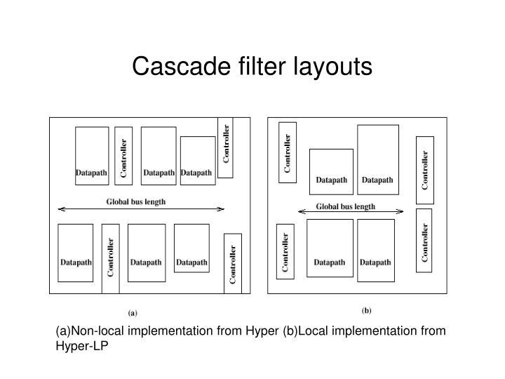 Cascade filter layouts