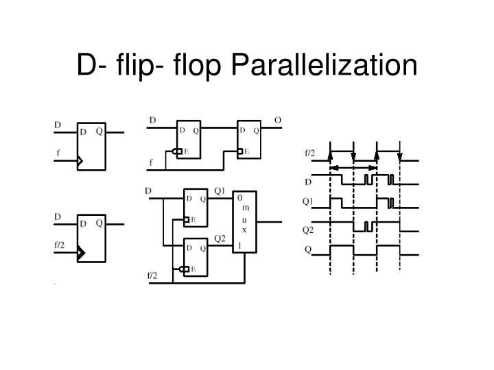 D- flip- flop Parallelization