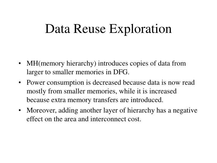 Data Reuse Exploration