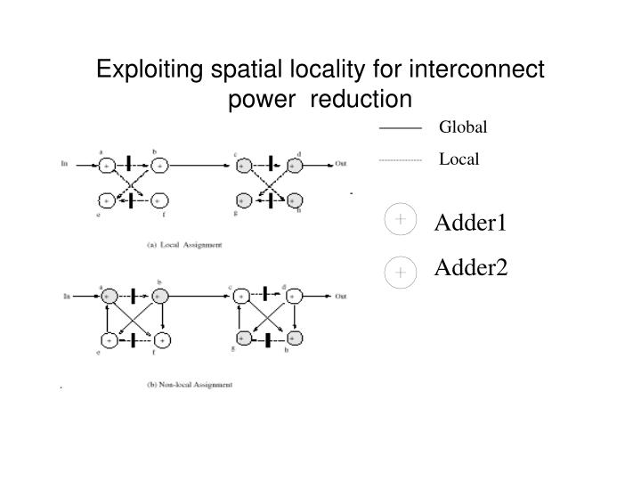 Exploiting spatial locality for interconnect