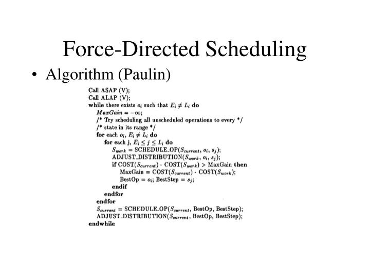 Force-Directed Scheduling