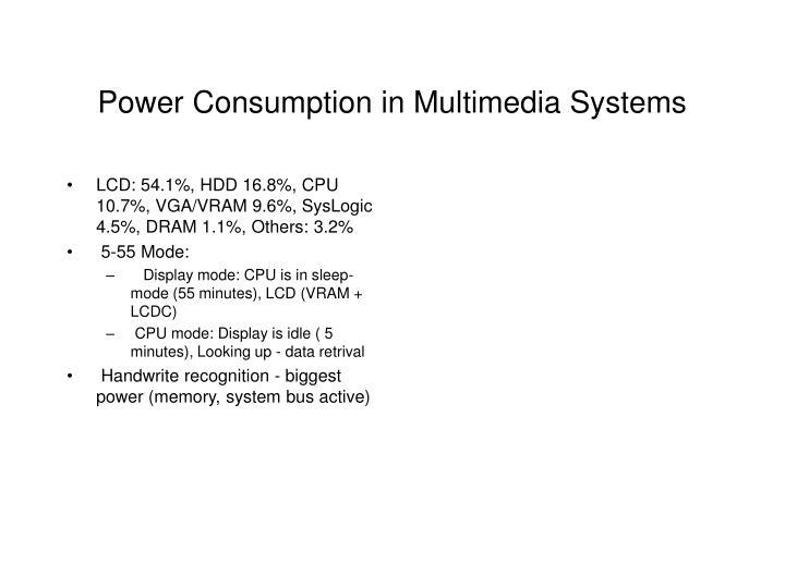 LCD: 54.1%, HDD 16.8%, CPU 10.7%, VGA/VRAM 9.6%, SysLogic 4.5%, DRAM 1.1%, Others: 3.2%