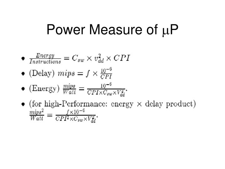 Power Measure of