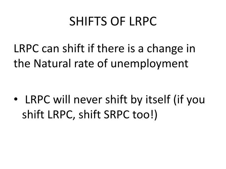 SHIFTS OF LRPC