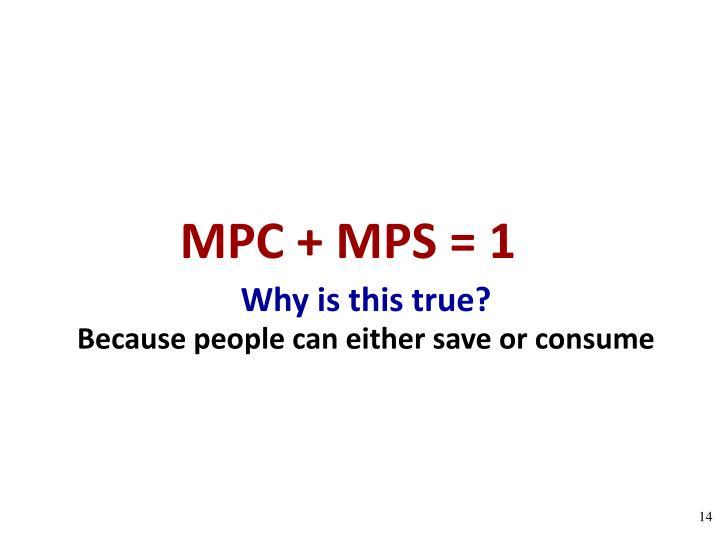 MPC + MPS = 1