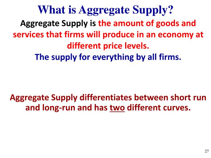 What is Aggregate Supply?