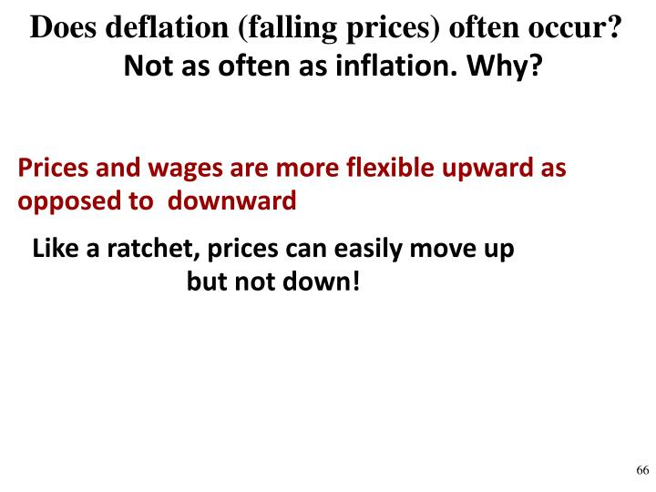 Does deflation (falling prices) often occur?