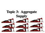 topic 3 aggregate supply
