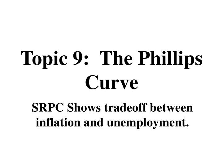 Topic 9:  The
