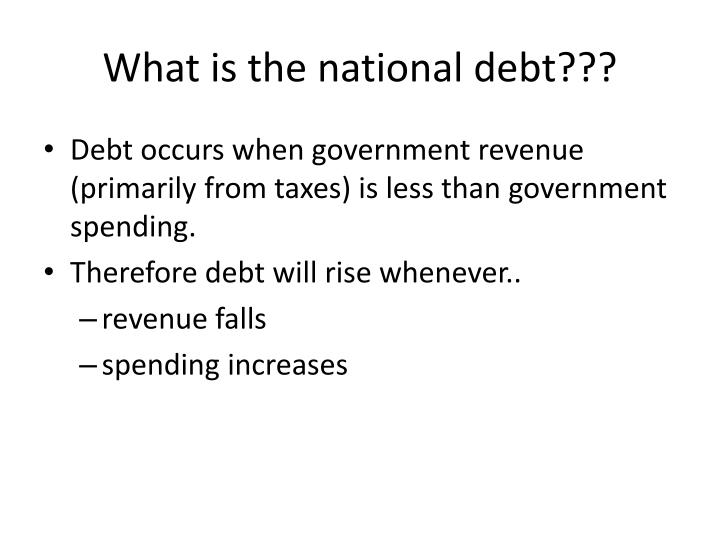What is the national debt???