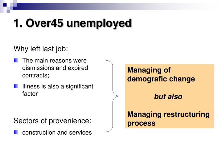 1. Over45 unemployed