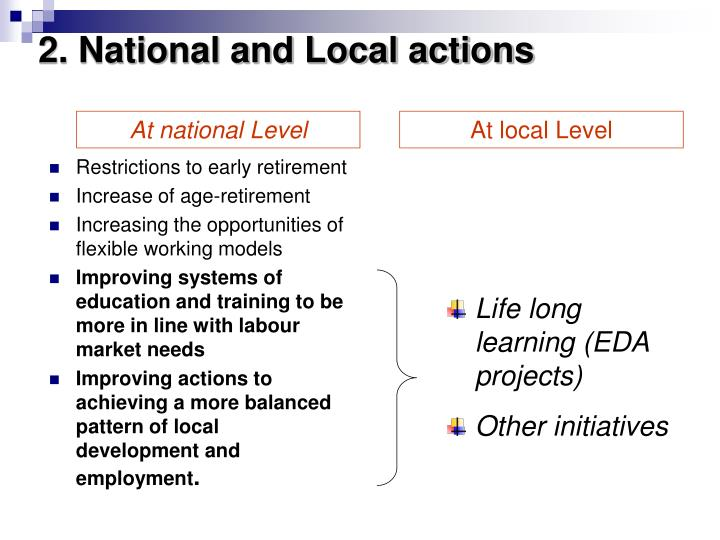 2. National and Local actions