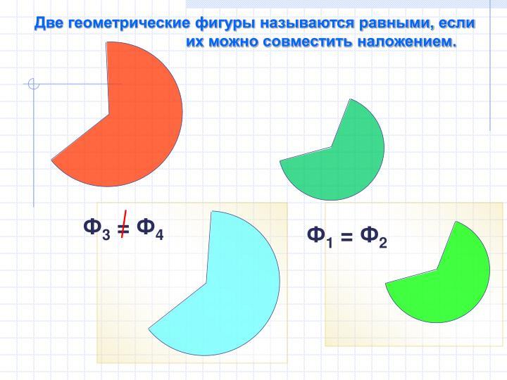 Две геометрические фигуры называются равными, если