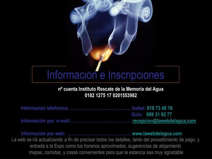 Información e Inscripciones