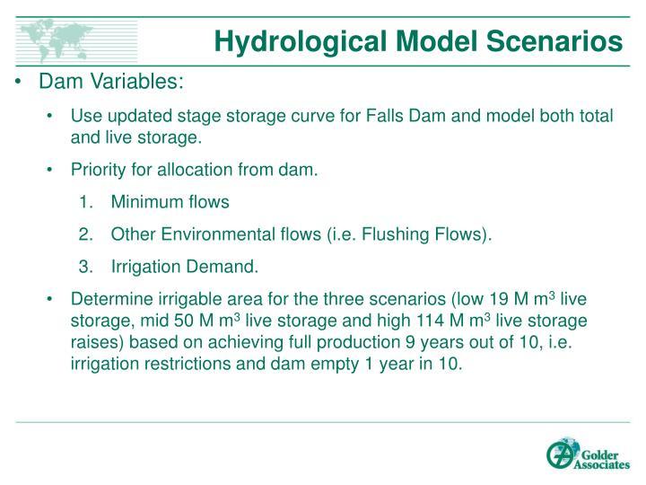 Hydrological Model Scenarios