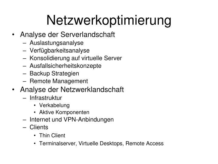 Netzwerkoptimierung