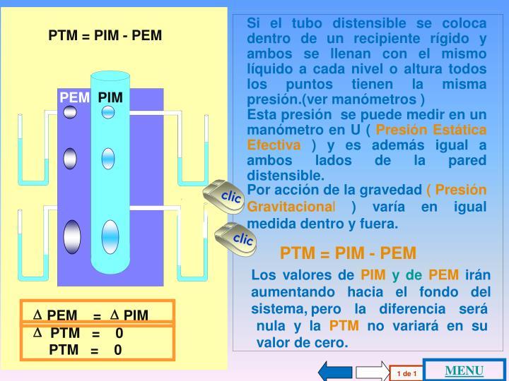 PTM = PIM - PEM