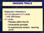 ongoing trials