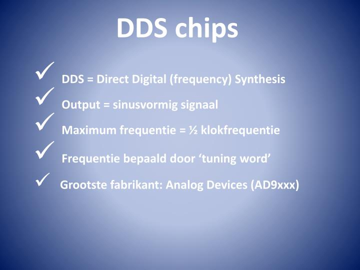 DDS = Direct Digital (frequency) Synthesis