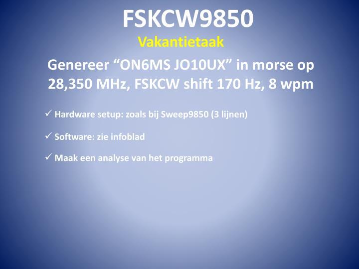 FSKCW9850