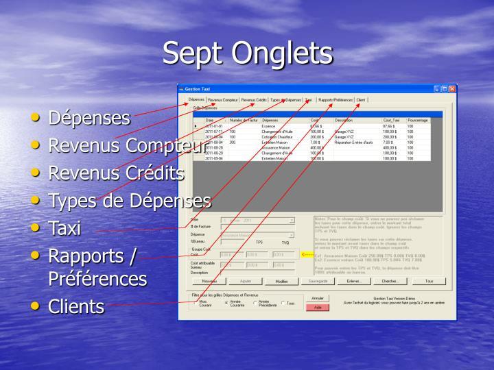 Sept Onglets