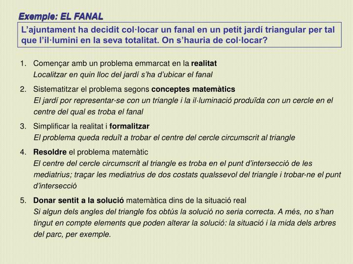 Exemple: EL FANAL
