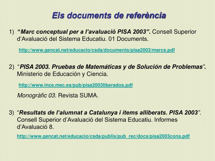 Els documents de referència