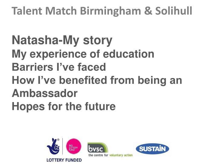 Talent Match Birmingham & Solihull