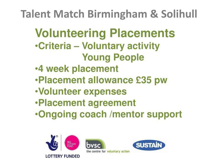 Volunteering Placements