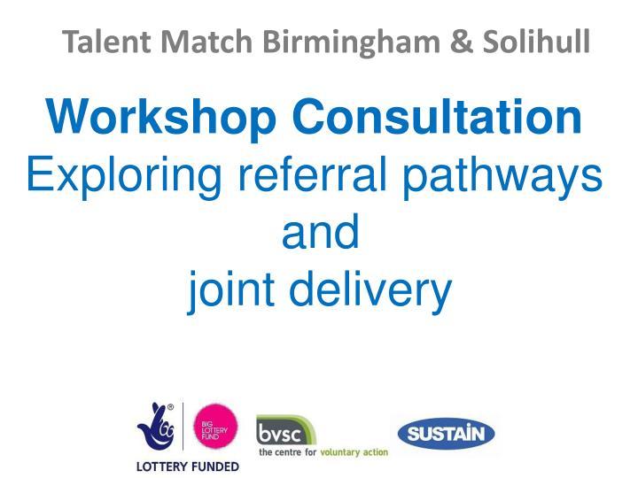 Workshop Consultation