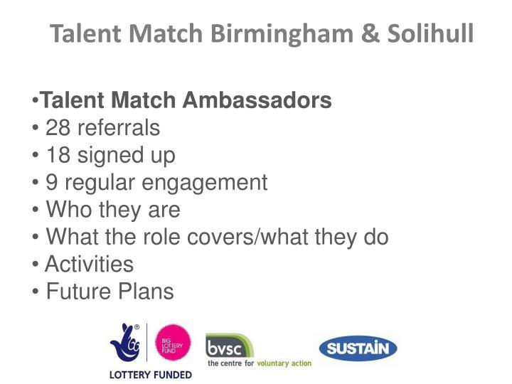 Talent Match Ambassadors