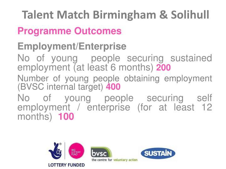Talent Match Birmingham &