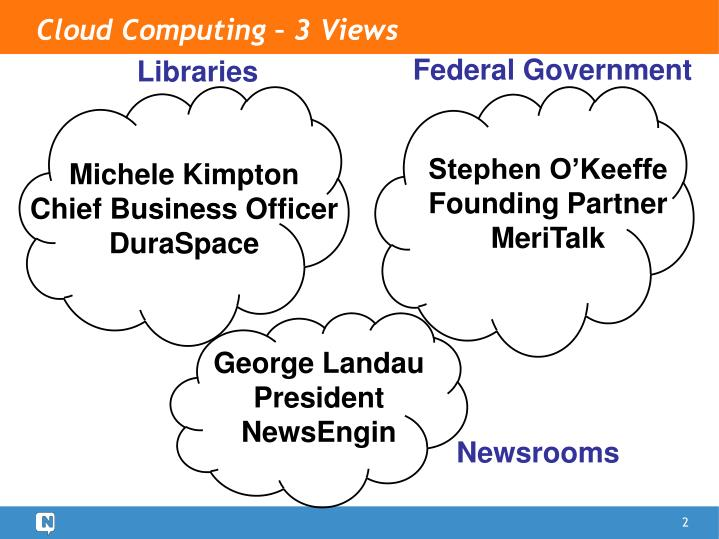 Cloud Computing – 3 Views