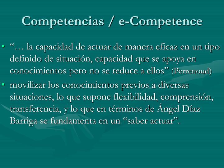 Competencias / e-Competence