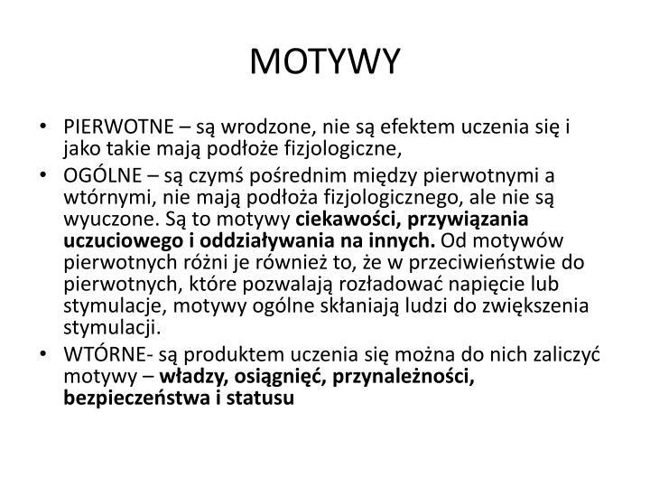 MOTYWY