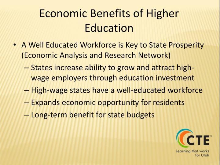 Economic Benefits of Higher Education