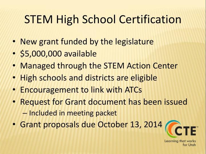 STEM High School Certification