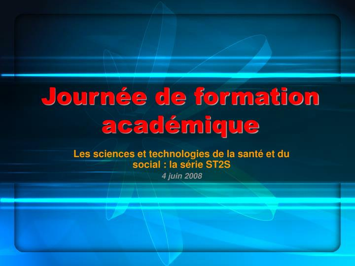 Journ e de formation acad mique