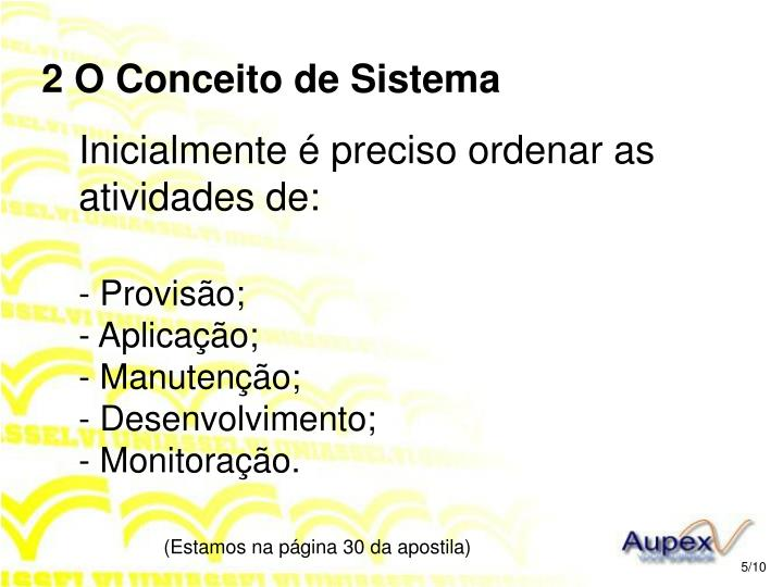 2 O Conceito de Sistema